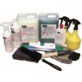 Vaske- & Bilplejesæt til udvendig klargøring