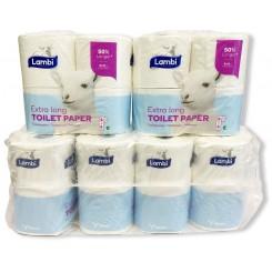 Lambi toiletpapir 3 lags extra soft/long luksus 24 rl's pk.