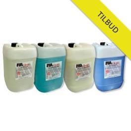 TiLBUD  Rengøringpakke 4x20 liter's dunke